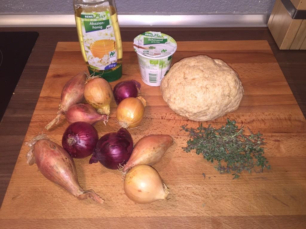 Zutaten Zwiebelkuchen