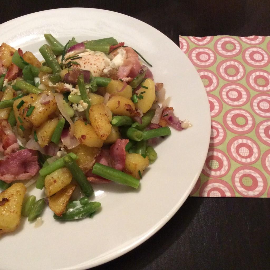 Kartoffeln-Bohnen-Pfanne